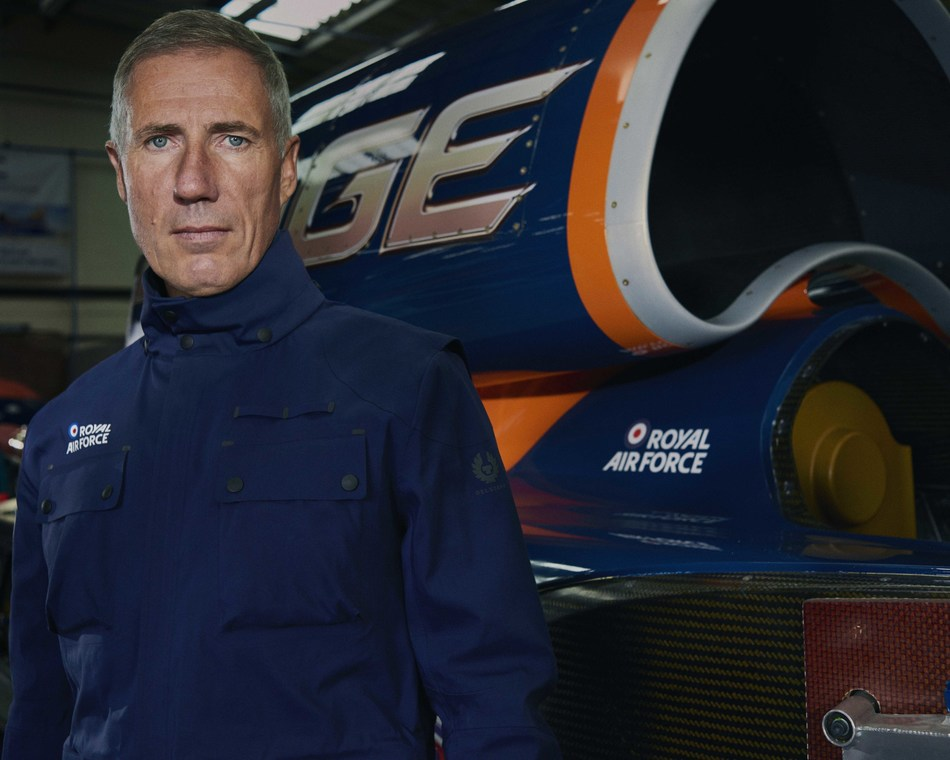 Belstaff announces partnership with BLOODHOUND, the 1,000mph Land Speed Record attempt, driven by Andy Green. (PRNewsfoto/Belstaff)