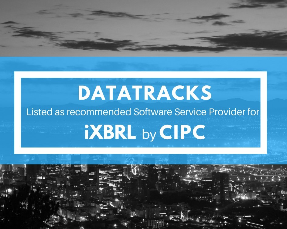DataTracks Listed as Recommended Software Service Provider (SSP) for iXBRL by CIPC (PRNewsfoto/DataTracks Services Limited)