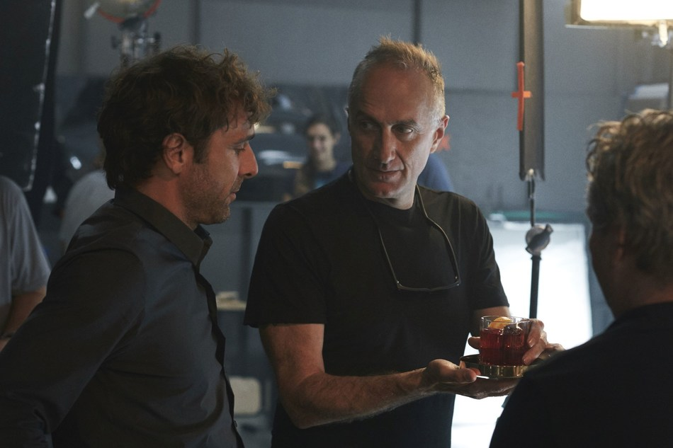 Stefano Sollima and Adriano Giannini behind the scenes at the filming of the Campari Red Diaries short movie, The Legend of Red Hand. Credit: Francesco Pizzo (PRNewsfoto/Campari)