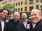 From left to right: Adrian Kaule, Ariel Roberge, Robert Kimber, Mike Sullivan (CNW Group/zendatamarketing)