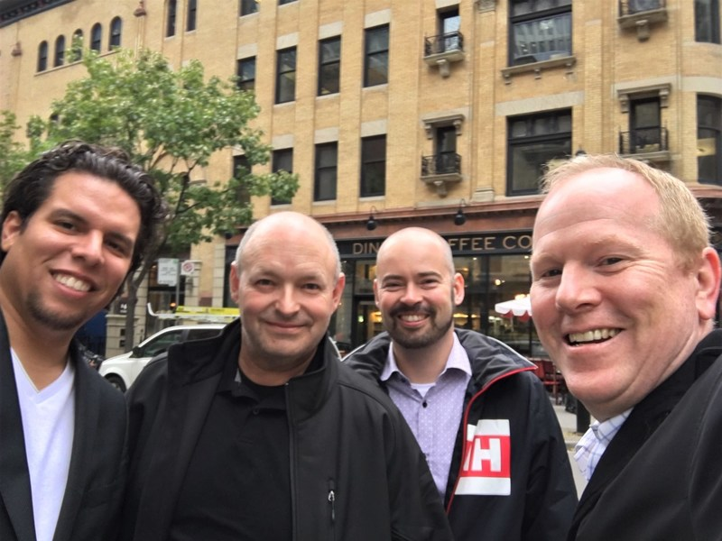 De gauche à droite: Adrian Kaule, Ariel Roberge, Robert Kimber, Mike Sullivan (Groupe CNW/zendatamarketing)