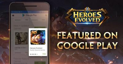 Heroes Evolved Em Destaque no Google Play