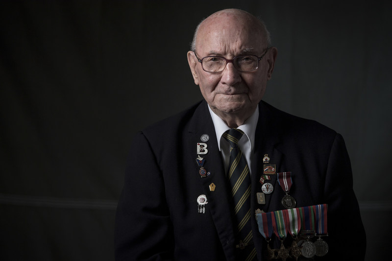 Second World War veteran and President of the Resident's Council at Sunnybrook's Veterans Centre Don Stewart. (CNW Group/Sunnybrook Health Sciences Centre)