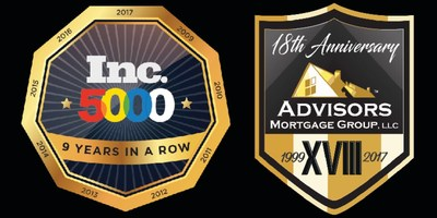 For the 9th Time, Advisors Mortgage Group Appears on the Inc. 5000 list