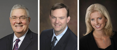 Patrick Derpinghaus (left), Matthew Braeger, Nicole Kitowski