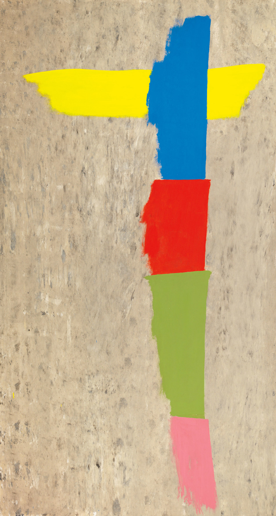 """Three works by Jack Bush anchor Heffel's Post-War & Contemporary Art offering. """"Winged Totem"""" is sure to resonate with international collectors (est. $250,000 - 350,000) (CNW Group/Heffel Fine Art Auction House)"""