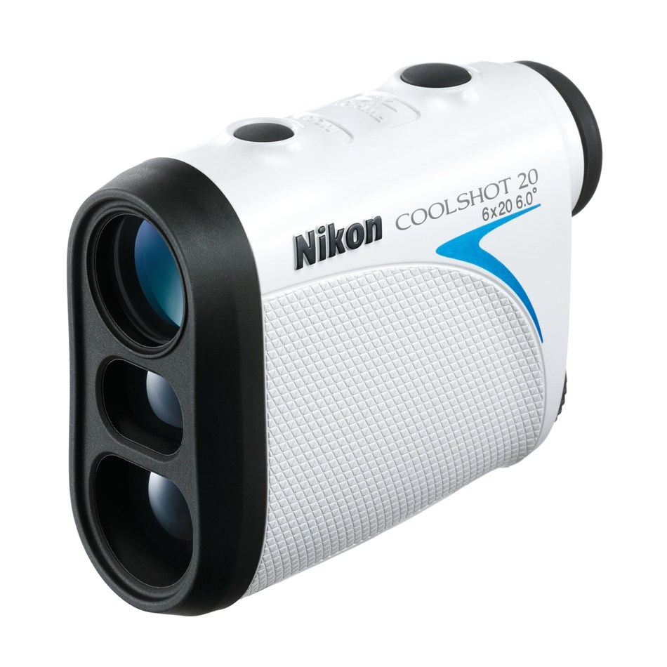 With an easy-to-use one-button push, the COOLSHOT 20 laser rangefinder continuously measures distances to bunkers, fairway ends and the flagstick (CNW Group/Nikon Canada)