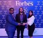 CEO & Founder of CTM360, Mr. Mirza Asrar Baig, receives the Forbes Innovator Award at the Forbes Middle East Innovators Award 2017 in Dubai. (PRNewsfoto/CTM360)