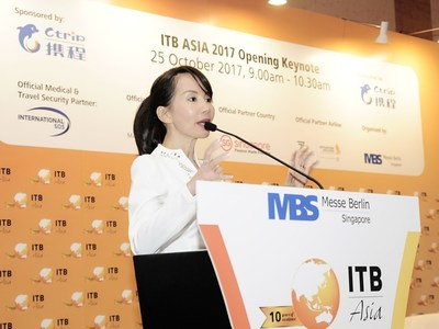 Ctrip's Chief Executive Officer Jane Sun spoke at ITB Asia 2017 Opening Keynote.