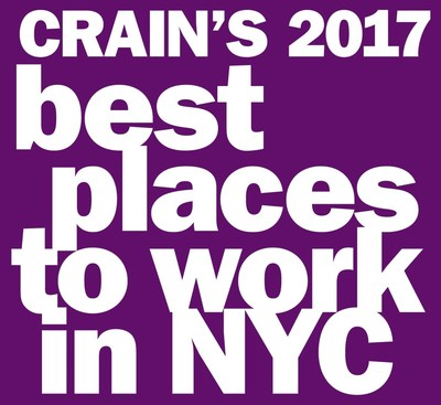 Crain's 2017 Best Places to Work in NYC