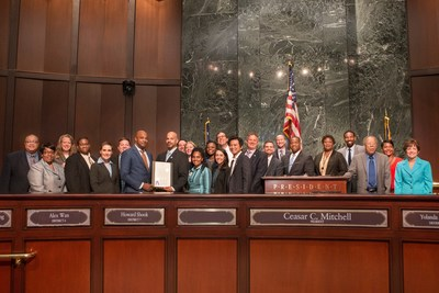 Atlanta City Council recognizes Cox Enterprises for the 10th anniversary of its national Cox Conserves sustainability program.