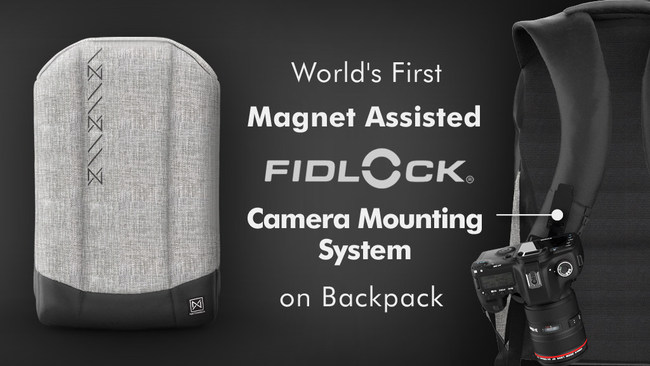 World's First Anti-Theft Travel Backpack with Integrated Camera Mounting System
