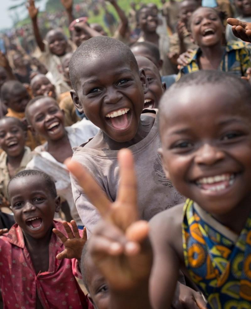 Des enfants dans la province du Nord-Kivu, en République démocratique du Congo. © UNICEF/UNI177741/Morton (Groupe CNW/UNICEF Canada)
