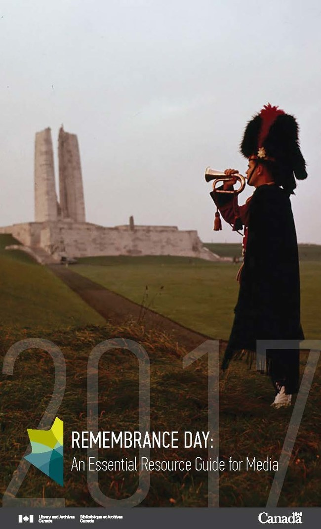 Remembrance Day: An Essential Resource Guide for Media (CNW Group/Library and Archives Canada)
