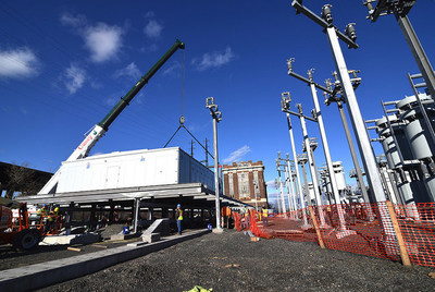 PSE&G's Essex Switching Station, inundated with water from the Passaic River five years ago during Sandy, has been elevated 8 feet and out of harm's way