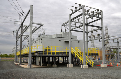 Since Sandy, PSE&G raised the Sewaren Switching Station's electrical equipment above new FEMA flood guidelines under the Energy Strong program.