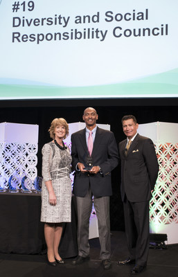 Michael A. Jones, Vice President, Human Resources at Ricoh USA, Inc. accepts the ERG & Council Honors Award.