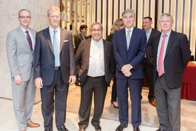 Pictured from left to right: Gerard Lynch, Rob Simplot, Ed Torio, Ambassador Sung Kim, and Rick McGonegal.