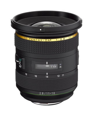 The HD PENTAX-DA* 11-18mm F2.8 will be on display as a reference product at Photo Plus Expo 2017 at the Javits Convention Center in New York (October 26-28).