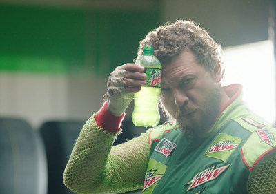 Danny McBride on the set of the Mountain Dew brand's Dewey Ryder TV commercial shoot