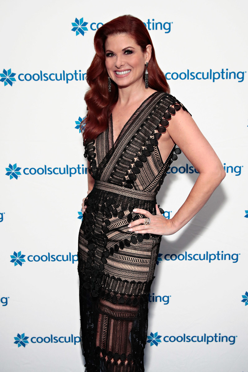 Debra Messing, global brand ambassador for CoolSculpting by Allergan, at Break The Ice panel discussion on Tuesday, October 24 at NYC's Minus5 ice bar.