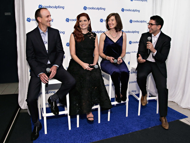 Allergan and CoolSculpting hosted Break The Ice panel discussion on Tuesday, October 24 with Brad Hauser, Vice President of Research & Development and General Manager for CoolSculpting, actress Debra Messing, Dr. Ellen Marmur, and Mike Jafar, Vice President, Medical Aesthetics Body Contouring for CoolSculpting, discussing CoolSculpting's science, treatment experience and results.