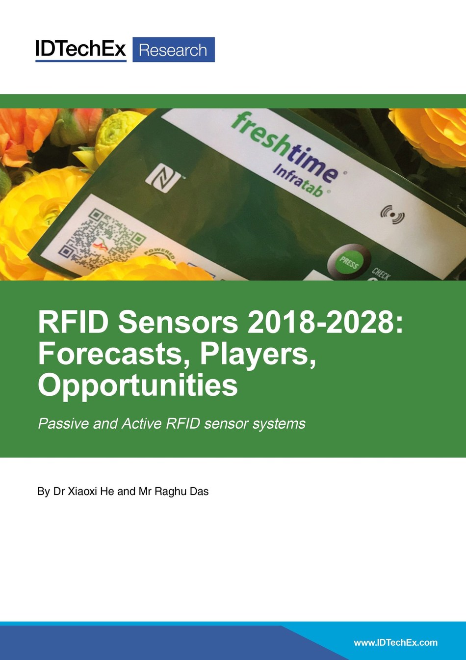 "New report from IDTechEx Research ""RFID Sensors 2018-2028: Forecasts, Players, Opportunities"" available now at www.IDTechEx.com/rfidsensors (PRNewsfoto/IDTechEx)"