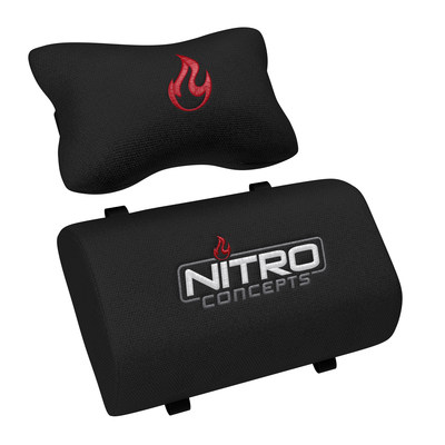 Two matching cushions included (neck + lumbar pillow) (PRNewsfoto/Nitro Concepts)
