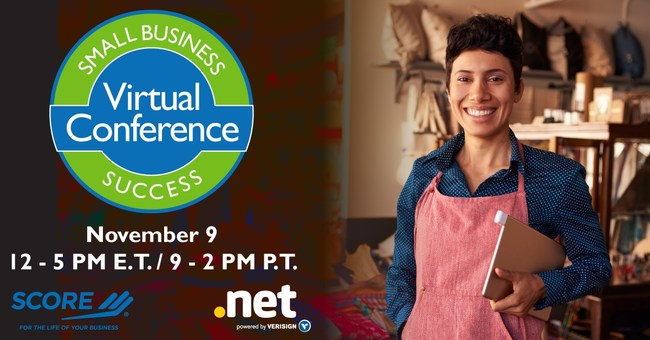 SCORE, the nation's largest network of volunteer, expert business mentors, will host a free online educational conference for small business owners and entrepreneurs on Thursday, November 9 from 12-5 p.m. EST. Powered by SCORE and Verisign, a global leader in domain names, the Small Business Success virtual conference replicates a real-life conference experience, offering expert-led educational sessions, one-on-one business mentoring, networking chat rooms and exhibitor booths.