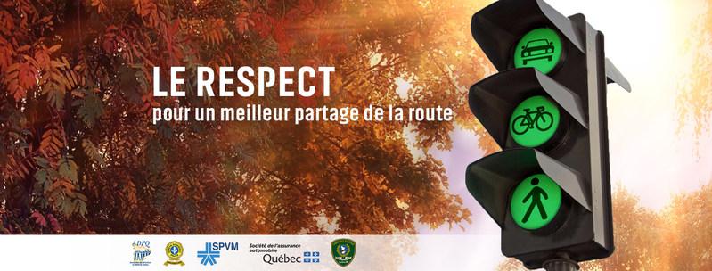 Le respect pour un meilleur partage de la route (Groupe CNW/Sûreté du Québec)