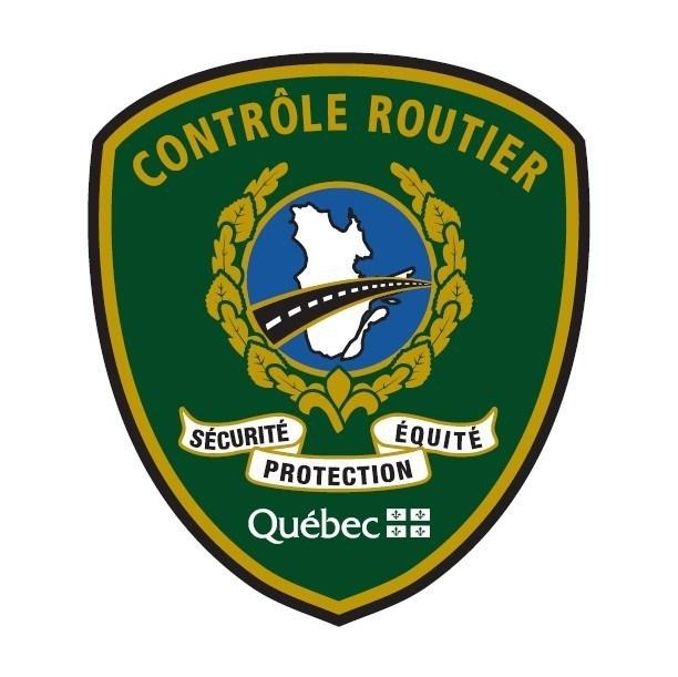 Logo : Contrôle routier Québec (Groupe CNW/Sûreté du Québec)