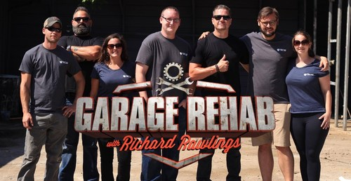 Russell J. Holmes and Chris Stephens, stars of Discovery Channel's new show GARAGE REHAB pose with the Security Camera Warehouse Team.