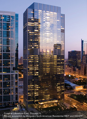 Coast at Lakeshore East, Chicago, IL (CNW Group/Morguard North American Residential Real Estate Investment Trust)