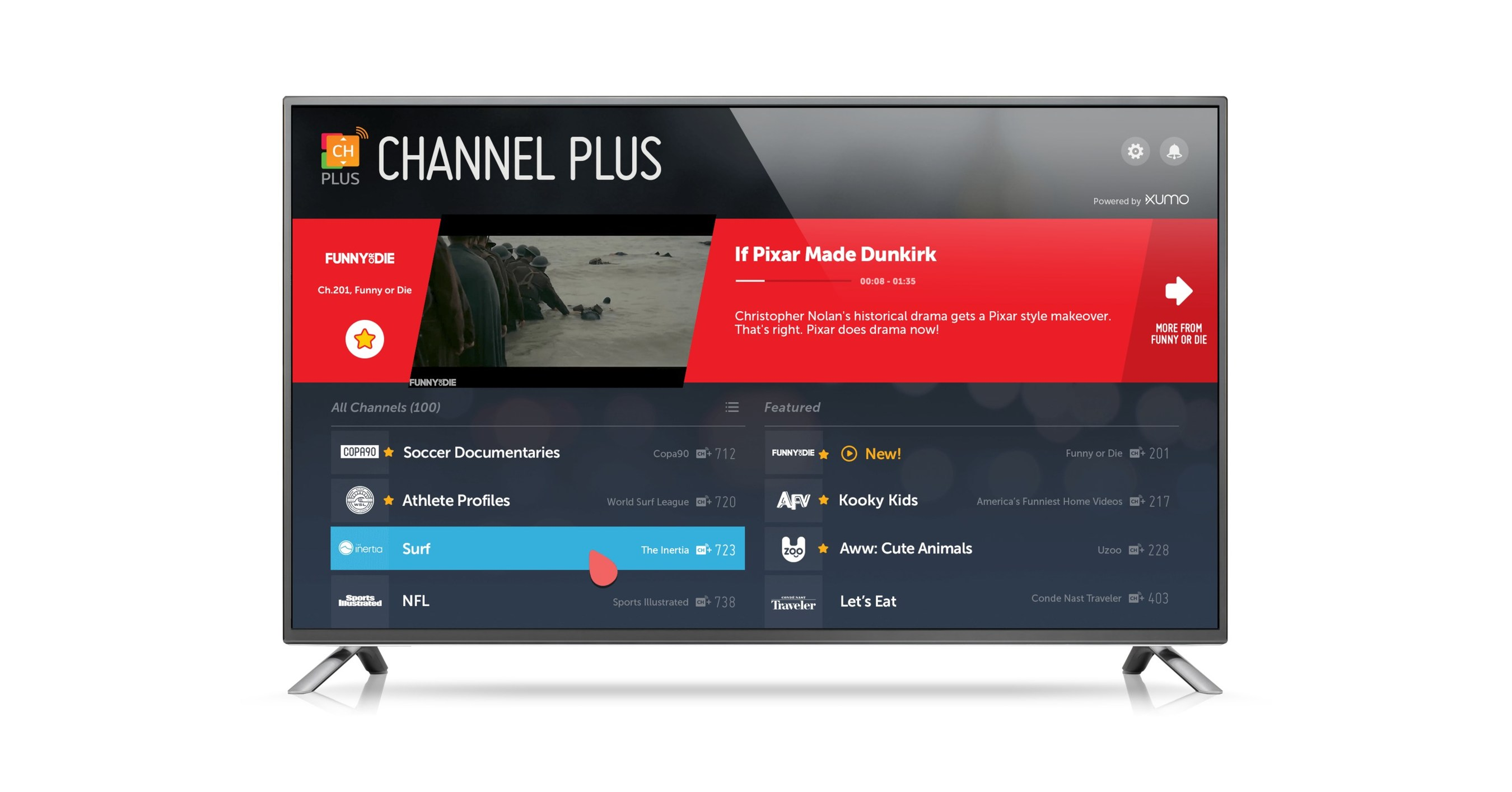 lg 39 s webos platform continues 2017 expansion with launch of channel plus and dazn sports streaming. Black Bedroom Furniture Sets. Home Design Ideas