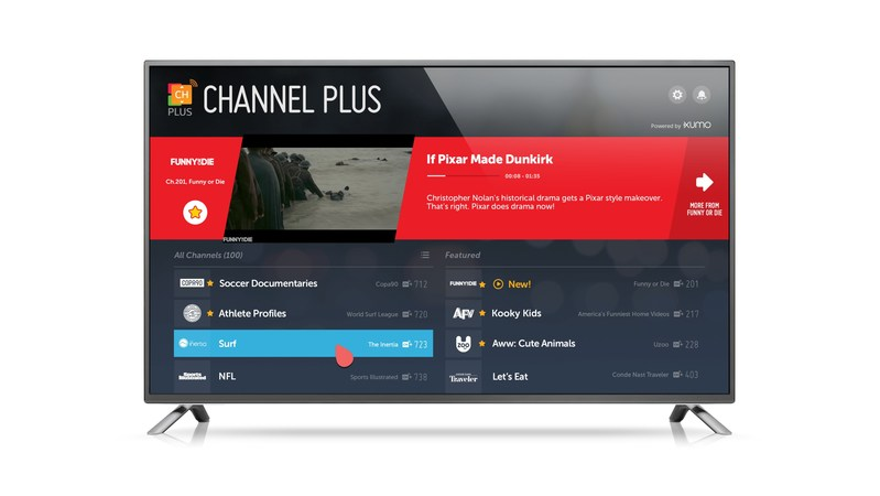 LG Channel Plus powered by XUMO now available on 2017 LG OLED, LG SUPER UHD and LG UHD TV models and DAZN now available on LG webOS TVs (CNW Group/LG Electronics Canada)