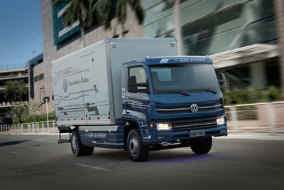 Volkswagen Caminhões e Ônibus' e-Delivery is the first fully electric truck developed in Brazil, and is equipped with an Allison 2100 Series™ transmission.