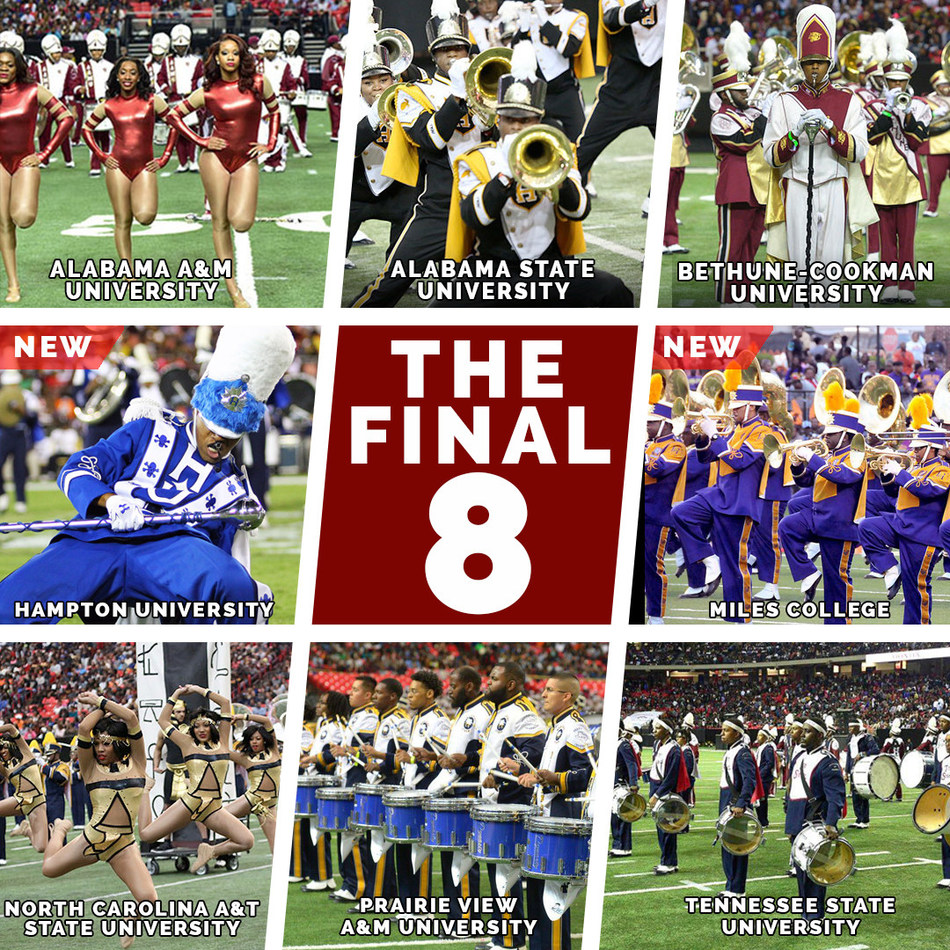 Eight Hbcu Bands March On To The 16th Annual Honda Battle Of The Bands Invitational Showcase