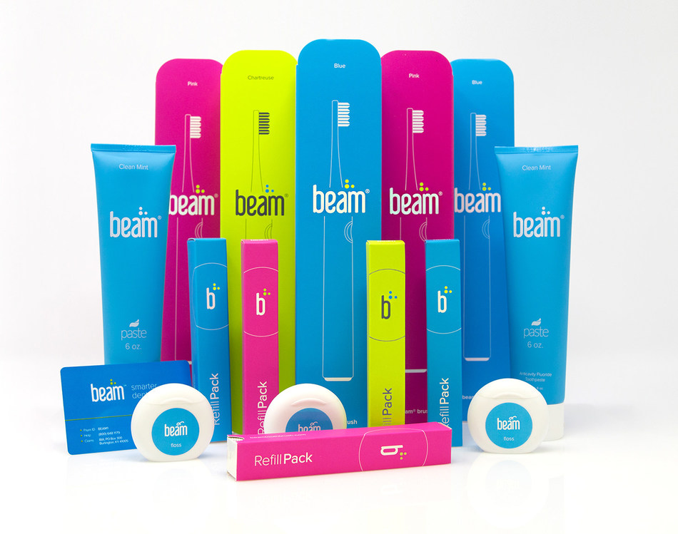 Beam Perks – A smart electrict toothbrush, toothpaste, refill heads, and floss, included with every Beam Dental plan, delivered right to your door.