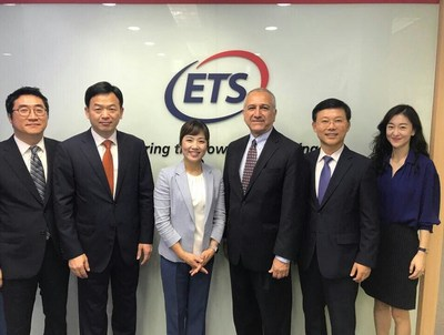 On Aug. 2, 2017, ETS Korea and CODE signed a partnership contract for WorkFORCE®. From left side on the above, Hyunwoong Baik (CODE), Seunjung Kim (CODE), Jisu Song (CODE), Mohammad Kousha (ETS Global), Paul Lee (ETS Korea), and Hyeshin Won (ETS Korea).