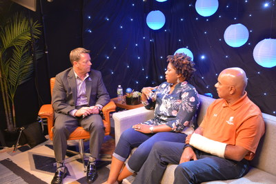 Wounded Warrior Project VP of Mental Health and Independent Services Mike Richardson spoke with warriors Taniki Richard and Bill Thomas during the Facebook Live event about their experiences, and how they found the courage to get help. Facebook opened its studio to Wounded Warrior Project, the Department of Defense, and the Department of Veterans Affairs for this live broadcast.