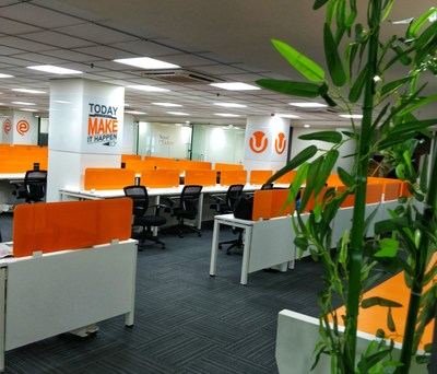 One of the newly designed work rooms at Webgility Indore.