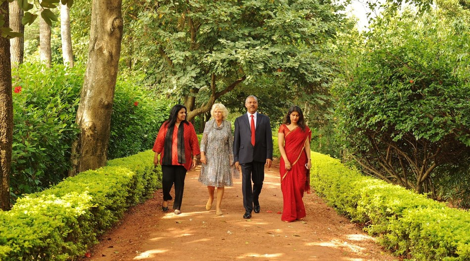 The Duchess of Cornwall spotted dawning the wellness aura at SOUKYA (Bangalore) - Her Royal Highness endorses India's integrated system of medicine (PRNewsfoto/SOUKYA)