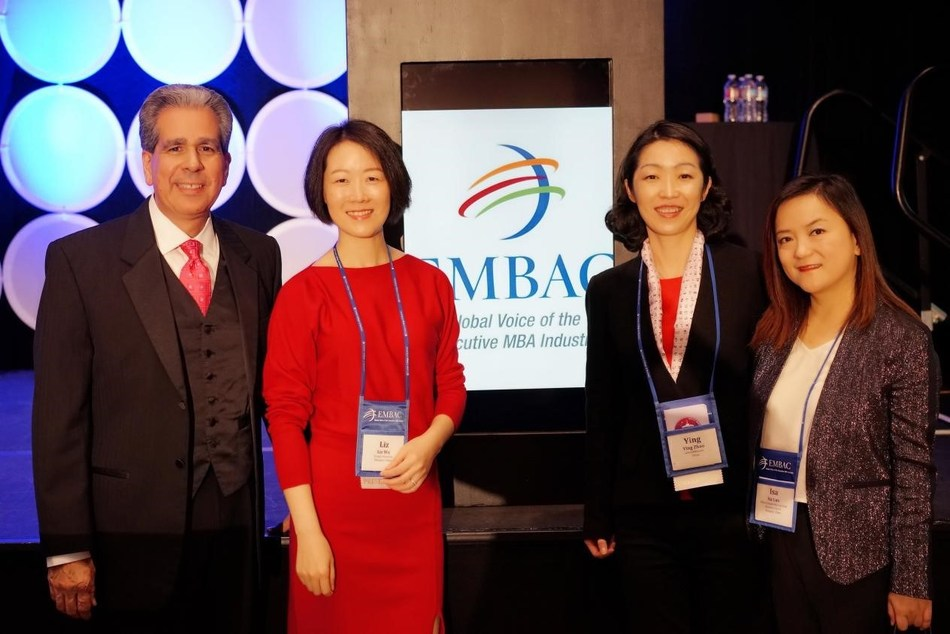 Chinese speakers with Director General of Executive MBA Council Mr. Michael Desiderio