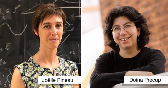 Joëlle Pineau and Doina Precup (CNW Group/Palais des congrès de Montréal)