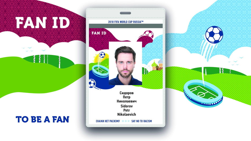 Russia has introduced a new FAN ID design for the 2018 FIFA World Cup (PRNewsfoto/Ministry of Telecom Russia)
