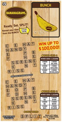 BANANAGRAMS® Instant Tickets Offered By Pollard Banknote (CNW Group/Pollard Banknote Limited)