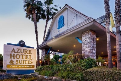 The entryway to Azure Hotel & Suites Ontario Airport/Convention Center, A Trademark Collection Hotel