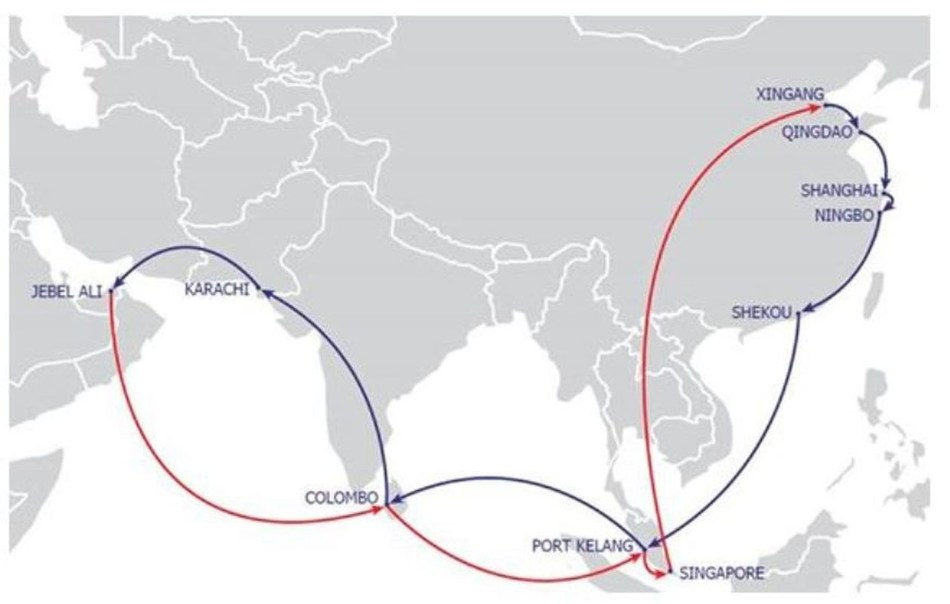 GSL's New Middle East Service map (PRNewsfoto/Gold Star Line Ltd.)