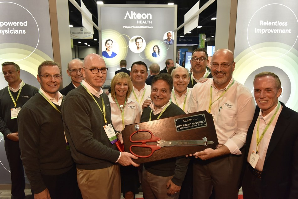 The Alteon leadership team gathered at the ACEP Conference last Sunday to unveil the new Alteon Health brand.