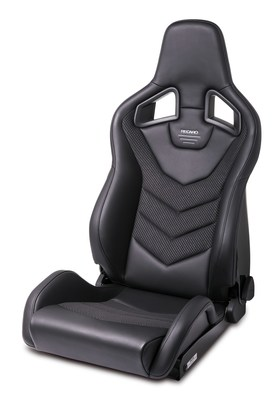 RECARO Trend Topline Sports Car Seat (Black Fabric) BRAND NEW inc ...